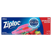 Ziploc Double Zipper Gallon Storage Bags Value Pack