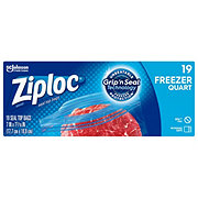 Ziploc Double Zipper Heavy Duty Freezer Quart Bags