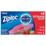 Ziploc Double Zipper Quart Storage Bags Value Pack