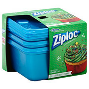 Ziploc Holiday Blue Medium Square Containers