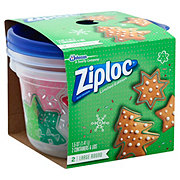 Ziploc Holiday Container Large Round Printed