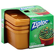 Exceptionnel Ziploc Holiday Gold Medium Square Containers