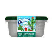 Ziploc Holiday Green Large Rectangle Containers
