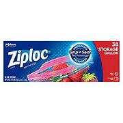 Ziploc Smart Zip Double Zipper Gallon Storage Bags Value Pack