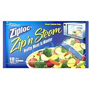 Ziploc Zip'n Steam Medium Steam Cooking Bags