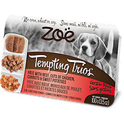 Zoe Tempting Trios Pate with Beef Chicken & Carrots Dog Food