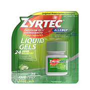 Zyrtec Allergy 24 Hour Liquid Gels
