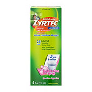 Zyrtec Children's Dye-Free Sugar-Free Bubble Gum Allergy Syrup
