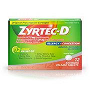 Zyrtec D 12 Hour Original Prescription Strength