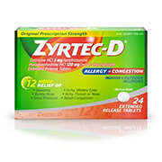 Zyrtec D 12 Hour Original Prescription Strength, 24 CT