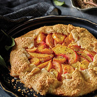 Peach and Black Pepper Galette