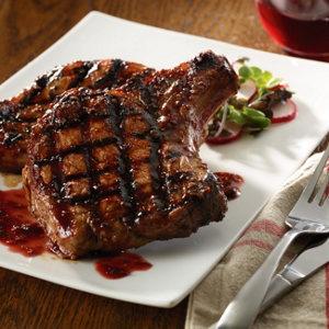 Raspberry chipotle pork chop recipes
