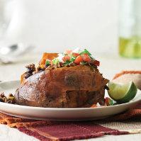 Chipotle Beef Stuffed Sweet Potatoes