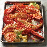 Grilled Lobster Tails with Chili Butter