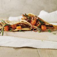 Mushroom, Sweet Potato and Poblano Tacos