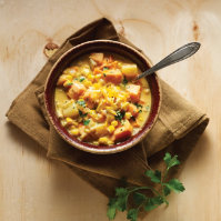 Southwestern Corn & Sweet Potato Chowder