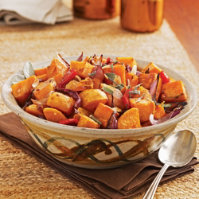 Spicy Peppered Sweet Potatoes