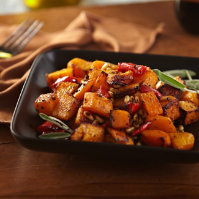 Spicy Roasted Squash & Red Peppers