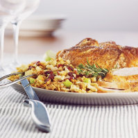 Turkey With Cranberry Apple Stuffing