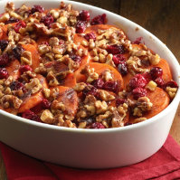 Walnut Sweet Potatoes with Cranberries