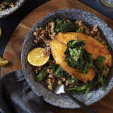 Achiote Tilapia with Spinach and Grains