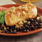 Agave Chicken with Black Beans & Onions