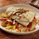 Alaska Cod Moroccan-Style With Mango-Carrot Slaw