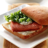 Alaska Salmon Ciabatta Sandwiches