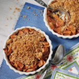 Apple Compote with Pretzel Almond Streusel