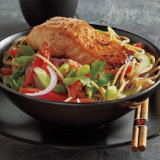Asian Noodle Bowl with Sesame Salmon