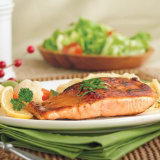 Balsamic Salmon with Pasta and Vegetables