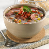 Beef Sausage & Pinto Bean Soup