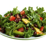 Black Bean, Avocado, and Kale Salad with Sweet Chili Vinaigrette
