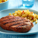 Blackened Peach BBQ Grilled Chops