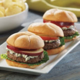 Blue Cheese and Apple Burgers