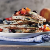 Blueberry Peach Pancakes