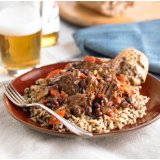 Bock-Simmered Pot Roast with Black Beans