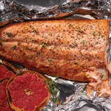Broiled Salmon with Grapefruit