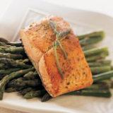 Bronzed Alaska Salmon in Butter-Wine Sauce