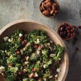 Bruised Kale Cranberry Salad