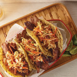 Bulgogi Beef Tacos with Spicy Slaw
