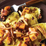 Butternut Squash Mezzelune with Pancetta & Apples