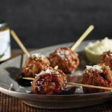 Cacio e Pepe Party Meatballs