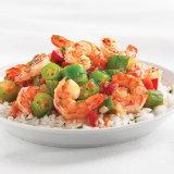 Cajun Grilled Shrimp Over Creole Okra & Rice