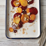 Caprese Style Beets with Blue  Cheese and Fig Vinegar