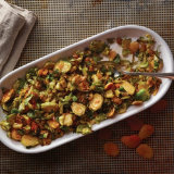 Charred Apricot Brussels Sprouts