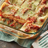 Cheesy Lasagna with Homemade Red Sauce