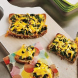 Cheesy Spinach Toast