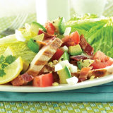Chicken, Bacon and Cheese Wedge Salad