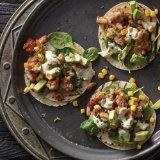 Chicken Street Tacos with Avocado Corn Salsa